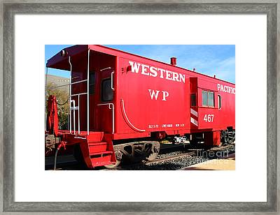 Historic Niles District In California Near Fremont . Western Pacific Caboose Train . 7d10627 Framed Print by Wingsdomain Art and Photography