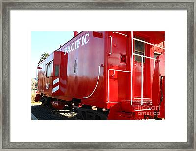 Historic Niles District In California Near Fremont . Western Pacific Caboose Train . 7d10720 Framed Print by Wingsdomain Art and Photography