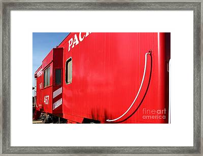 Historic Niles District In California Near Fremont . Western Pacific Caboose Train . 7d10724 Framed Print