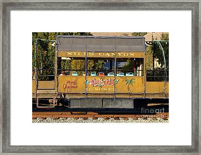 Historic Niles Trains In California . Old Niles Canyon Train . 7d10844 Framed Print by Wingsdomain Art and Photography