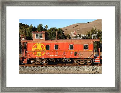 Historic Niles Trains In California . Old Sante Fe Caboose . 7d10832 Framed Print by Wingsdomain Art and Photography
