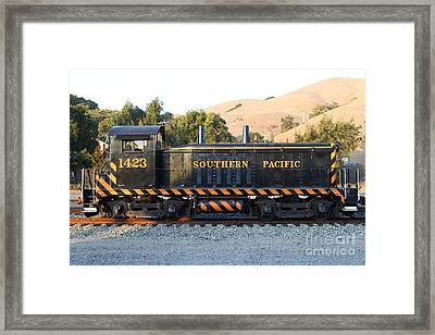 Historic Niles Trains In California . Old Southern Pacific Locomotive . 7d10867 Framed Print by Wingsdomain Art and Photography