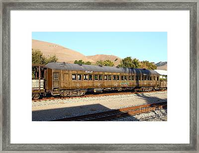 Historic Niles Trains In California . Old Western Pacific Passenger Train . 7d10836 Framed Print by Wingsdomain Art and Photography