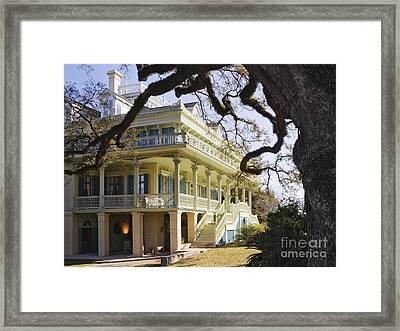 Historic Plantation Manor Home Framed Print by Jeremy Woodhouse