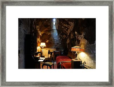 Historic Prison Cell Of Al Capone Framed Print by Gary Whitton