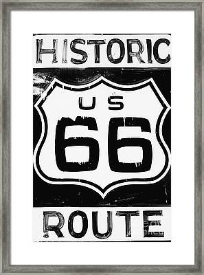 Historic Route Framed Print