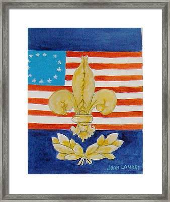 Historic Symbols Framed Print by Joan Landry
