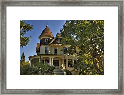Historic Victorian House Framed Print by Tyra  OBryant