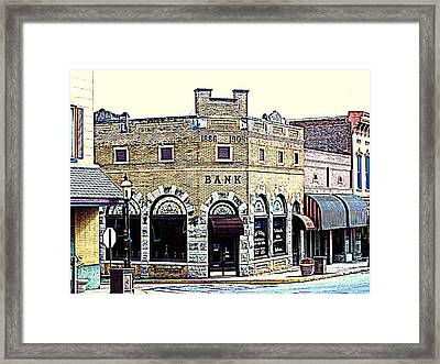 Historical Bank Building Framed Print