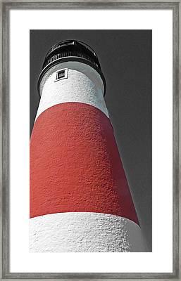 Historical Sankaty Head Lighthouse Framed Print by Becky Lodes