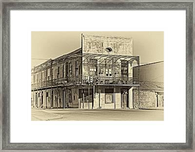 History Lesson Sepia Framed Print