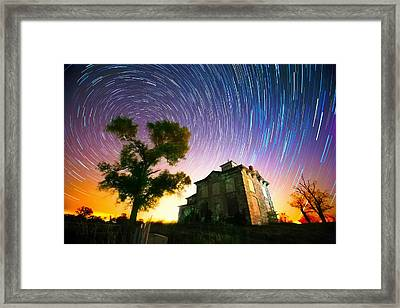 History Of The Universe Framed Print by Evan Ludes