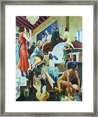 History Of Water Framed Print by Pg Reproductions