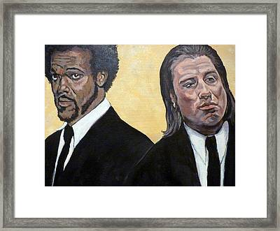 Hit Men Framed Print by Tom Roderick