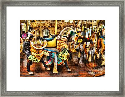 Hitch A Ride Framed Print by Clare VanderVeen