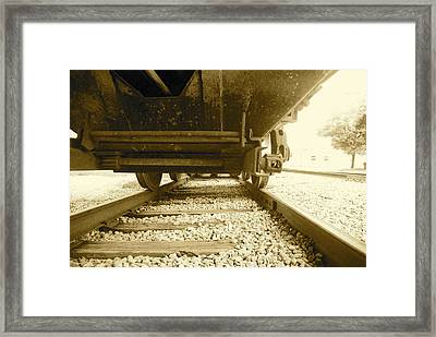 Hitch A Ride Framed Print by Thomas Brown