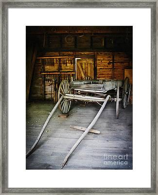Hitch Your Wagon Framed Print by Colleen Kammerer