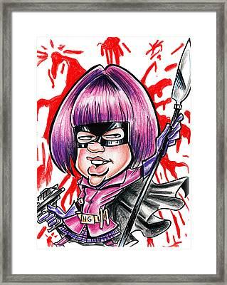 Hitgirl Framed Print by Big Mike Roate