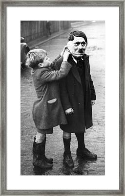 Hitler Mask Framed Print by William Vanderson