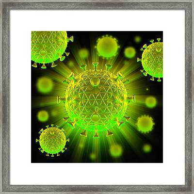 Hiv Particles Framed Print by Mehau Kulyk