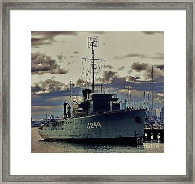 Framed Print featuring the photograph Hmas Castlemaine 1 by Blair Stuart
