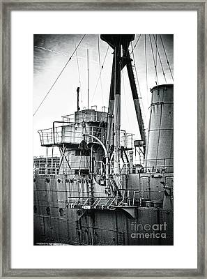Hms Caroline Framed Print by Chris Cardwell