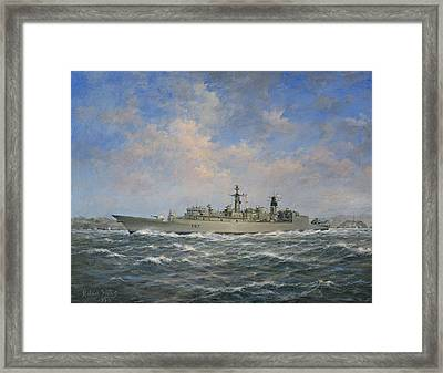 H.m.s. Chatham Type 22 - Batch 3 Framed Print by Richard Willis