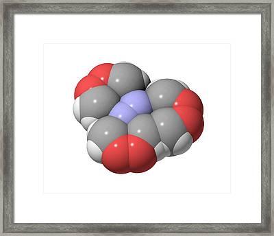 Hmtd Explosive, Molecular Model Framed Print