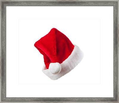 Ho Ho Ho - Santa Hat Framed Print by Amanda Elwell