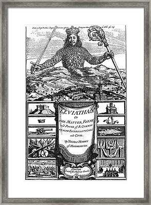 Hobbes: Leviathan, 1651 Framed Print