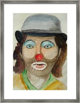 Hobo Clown Framed Print by Betty Pimm