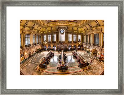 Hoboken Terminal Main Waiting Room I Framed Print by Clarence Holmes