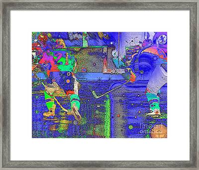 Hockey Abstract Framed Print by Rod Seeley
