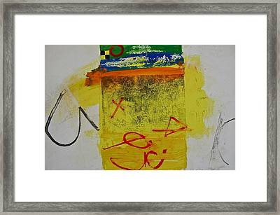 Hockey Glyphs  Framed Print by Cliff Spohn