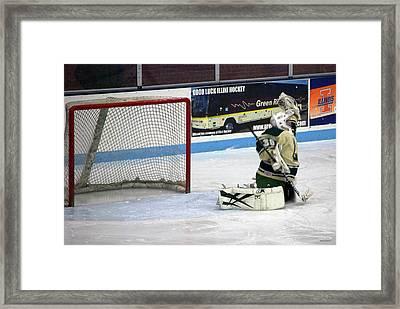 Hockey Nice Catch Framed Print by Thomas Woolworth