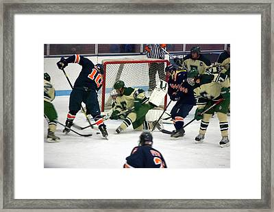 Hockey Two On Four Framed Print by Thomas Woolworth