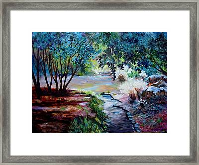 Framed Print featuring the painting Hodges Garden Stream by AnnE Dentler