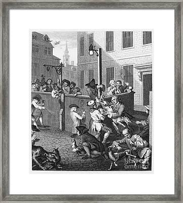 Hogarth: Cruelty, 1751 Framed Print