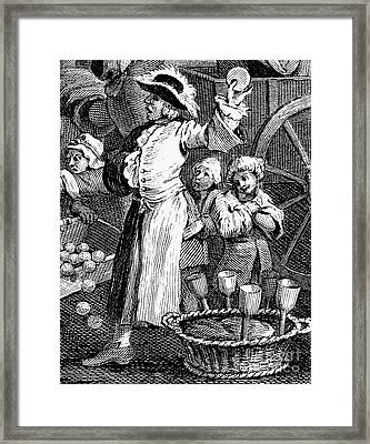 Hogarth: Cutpurse, 1751 Framed Print