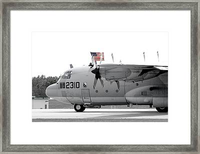 Hoisting The Colors Framed Print by Greg Fortier