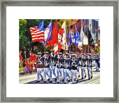 Hokie Parade Framed Print by Kathy Jennings