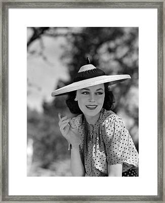 Hold That Kiss, Maureen Osullivan, 1938 Framed Print by Everett