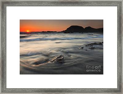 Holding Back The Sea Framed Print by Mike  Dawson