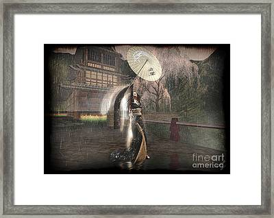 Holding Off The Storm Framed Print