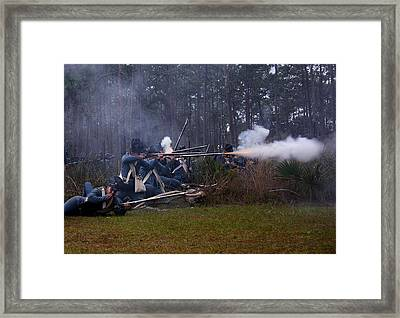 Framed Print featuring the photograph Holding The Line by Myrna Bradshaw