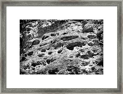 Holes In The Mountain Framed Print