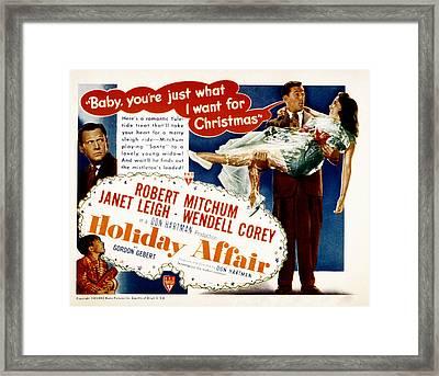 Holiday Affair, Robert Mitchum, Janet Framed Print by Everett