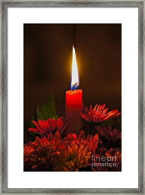Holiday Candle Framed Print by Sean Griffin