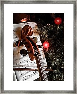 Albuquerque, New Mexico - Holiday Cello Framed Print