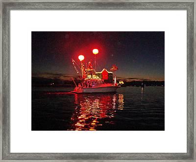 Holiday Flotilla  Framed Print